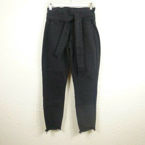Tinseltown Jeans sz 5 / 27 Black High Waisted Tie